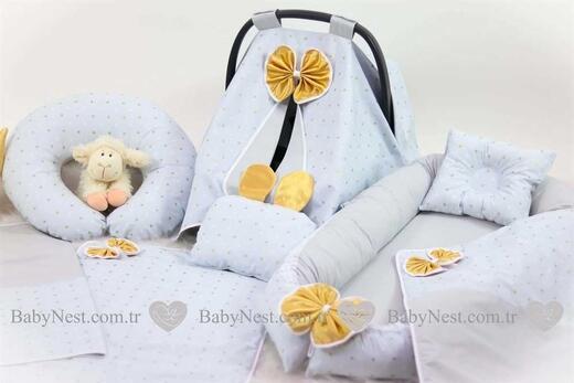 BabyNest FULL Seti Gold Puantiye - Thumbnail