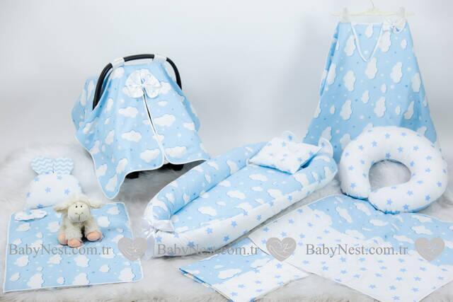 BabyNest FULL Seti Mavi Yıldız ve Mavi Bulutum