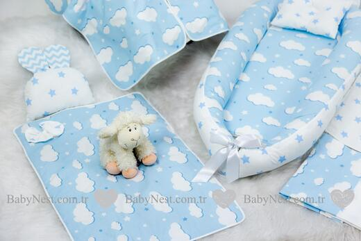BabyNest FULL Seti Mavi Yıldız ve Mavi Bulutum - Thumbnail