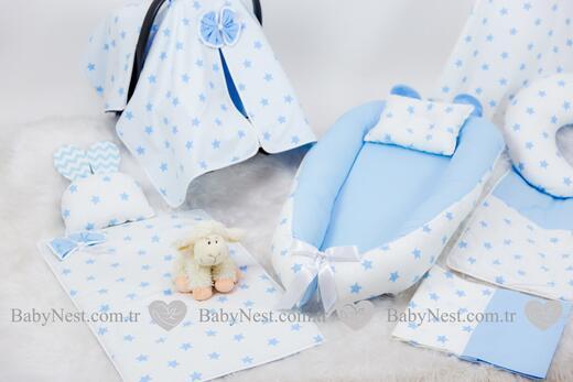 BabyNest FULL Seti Mavi ve Gri Yıldız - Thumbnail