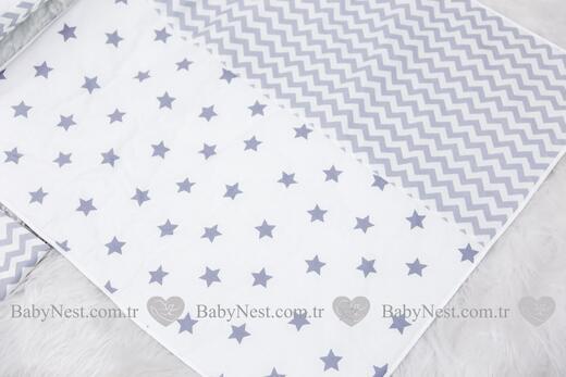 BabyNest FULL Seti Gri Büyük Yıldız ve Zikzak - Thumbnail