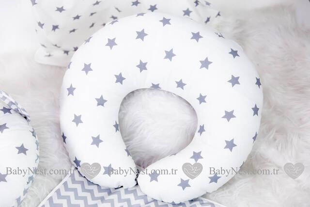 BabyNest FULL Seti Gri Büyük Yıldız ve Zikzak