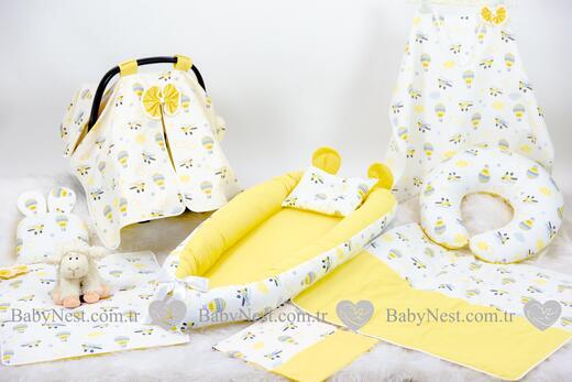 BabyNest Seti - BabyNest FULL Seti Sari Paraşüt