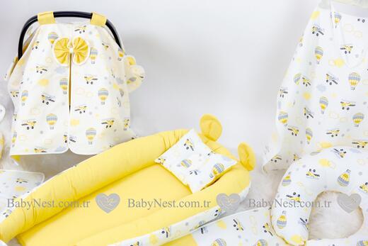 BabyNest FULL Seti Sari Paraşüt - Thumbnail