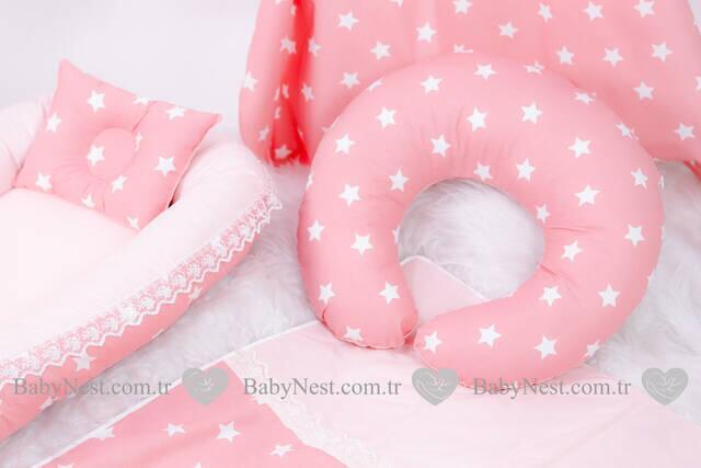 BabyNest FULL Seti Somon Yıldız ve Açık Somon