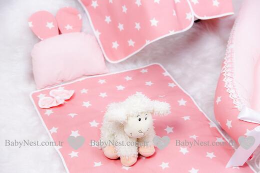 BabyNest FULL Seti Somon Yıldız ve Açık Somon - Thumbnail