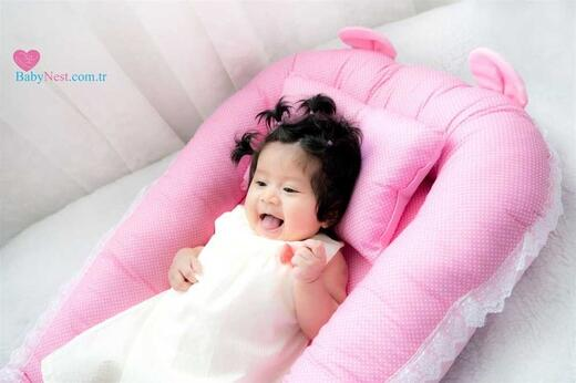 BabyNest - BabyNest Kulaklı Pespembe