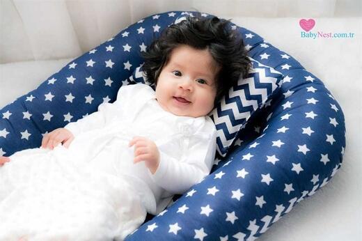 BabyNest - BabyNest Lacivertim Yıldızlı ve Zikzak