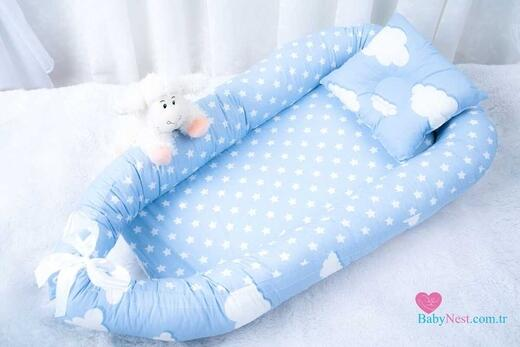 BabyNest Mavi Yıldız Ve Bulut - Thumbnail