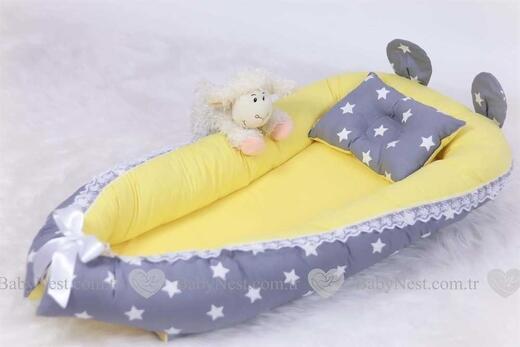 BabyNest - BabyNest - Sarı ve Gri Yıldız