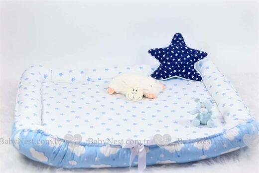 Uyku Arkadaşı - Oyun Minder Mavi Yıldız ve Mavi Bulut